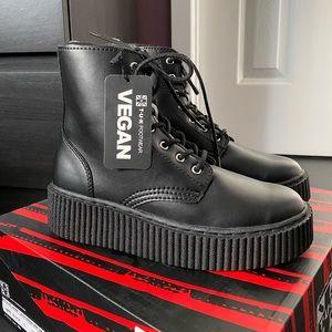 Black TUKSkin Vegan Casbah Creeper Boots
